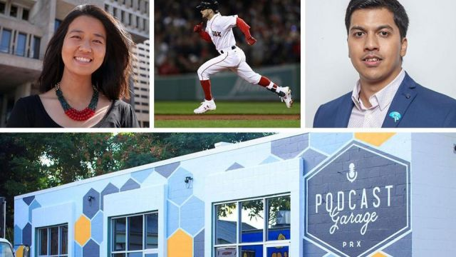 City Councilor Michelle Wu, Red Sox outfielder Andrew Benintendi, MIT researcher Dheeraj Roy, and th