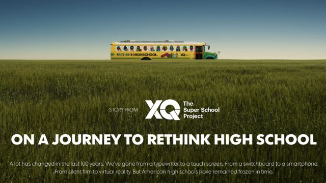 Image of XQ Bus going through field